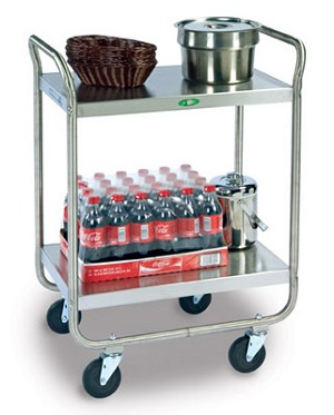 Utility Cart Stainless Steel: 2 shelf; 18