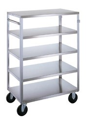 Stainless Steel Multi-Shelf Cart: 5 shelf; 18