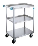 Utility Cart Stainless Steel: 3 shelf; 15-1/2