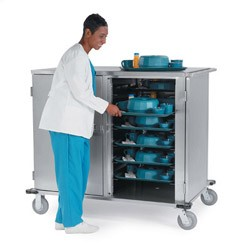 Tray Delivery Carts - Low Profile Stainless Steel: tray capacity: 24ea