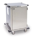 Stainless Steel Closed Cart, One Door: PERFORATED S/S Shelf Width: 24