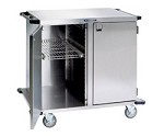 Stainless Steel Closed Cart, Two Door: SOLID S/S Shelf Width: 13-1/2