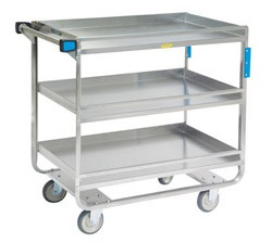 Utility Cart - Angle Design - Stainless Steel: 3 shelf; 18