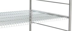 "Stainless Steel Distribution Supply Carts: WIRE SHELF: 38-1/2 W x 28-3/4"" D x 38-1/2"""