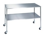 Stainless Steel Instrument Table with Shelf: 18