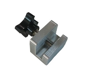 Rail Clamp with Adjustment Knob and Screw