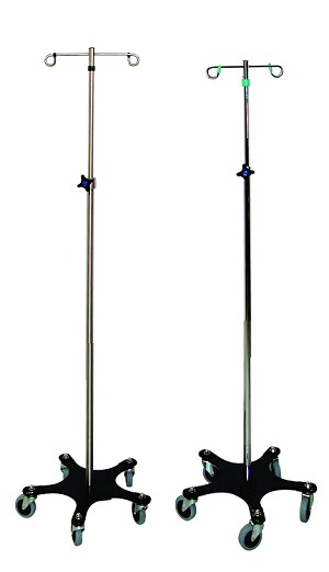 I.V. Pole with 2 hooks