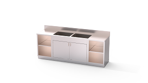 Cabinet Base Processing Sink Dual Bay