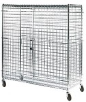 Square Post Wire Security Carts: Dimensions: 24