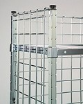 Post Attached Enclosure Panels. Converts open carts to 3-sided enclosed units. Dimensions: 24