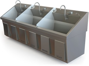 Ss96 Series Scrub Sink