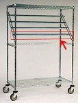 Square Bar for Sterile Wrap Rack model # R2448SWR : 48