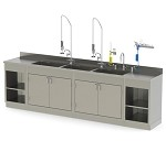 Cabinet Base Processing Sink Triple Bay